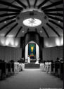 Cupertino Church Wedding Photography - Black & White Architecture