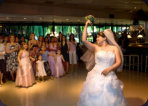 Santa Clara Freedom Hall Wedding Photo Bouquet Toss 17